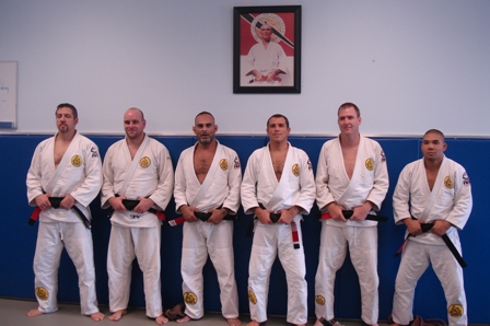New Black belt with David and Royler:Armando,Jason,Chris and Mateo