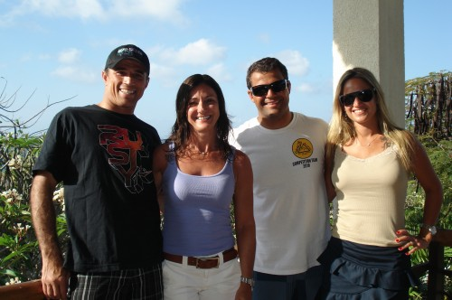 Royler and Bruno with wifes,Vera and Julia.