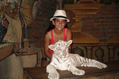 Rarine and white tiger.