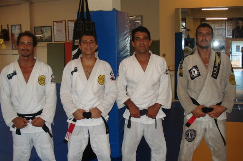 The black belts from Gracie Humaita in Bali.Felipe,Royler,Marcos,Royler and Pedro.