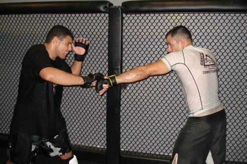 Morango and Moshe training.