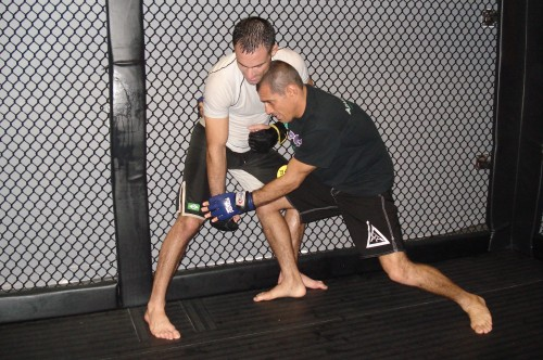 Moshe and Royler training.