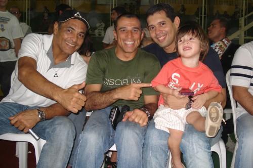 Rickson,Royler,Paulo Coelho and his son Paulo.