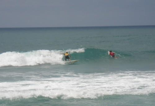 Royler surfing.