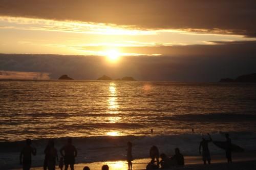 Late afternoon Ipanema beach.