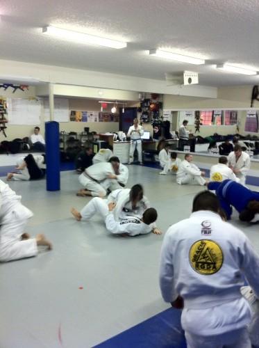 Group training.